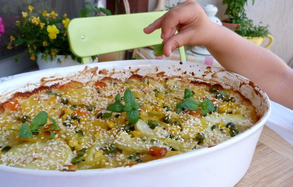 Цветна зеленчукова запеканка